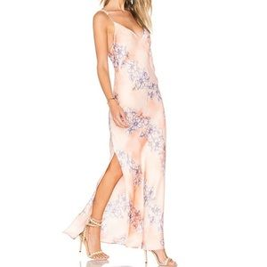 FREE PEOPLE Cassie Peach Floral Maxi Slip Gown XS